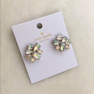 BN KATE SPADE CLEAR CLUSTER EARRING STUDS BNWT